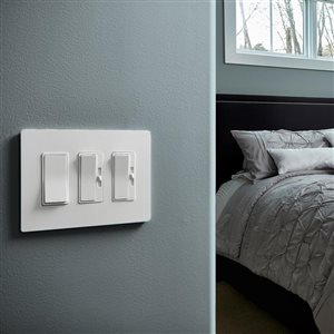 Legrand radiant 3-Gang Decorator Rocker Wall Plate (White)