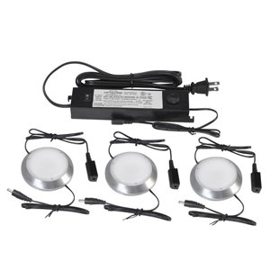 ecolight 3-Pack 2.76-in Plug-in Under Cabinet LED Cabinet Light Type