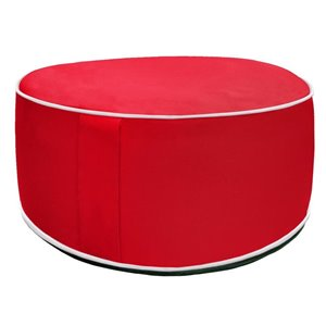 10-in Red Inflatable Pouf Ottoman
