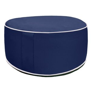 10-in Blue Inflatable Pouf Ottoman
