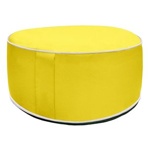 10-in Yellow Inflatable Pouf Ottoman