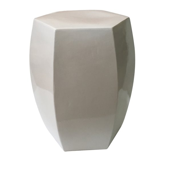 Wondrous Allen Roth New White Ceramic Barrel Garden Stool Ibusinesslaw Wood Chair Design Ideas Ibusinesslaworg