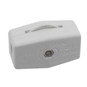SERVALITE 6-Amp White Single Pole Light Switch