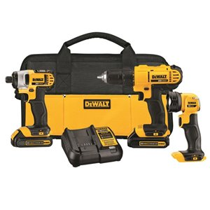 Dewalt 20-Volt Max 3-Tool Power Tool Combo Kit with Soft Case DCK340C2