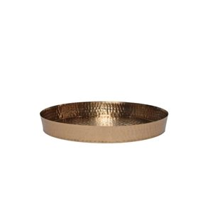 16-in Copper Hammered Round Tray