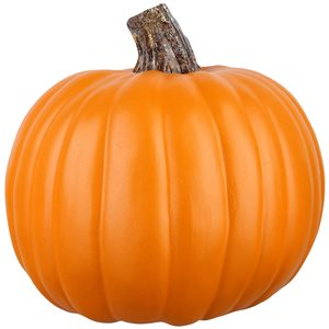Gemmy 8.26-in -in H Painted Orange Polyurethane Craft Pumpkin