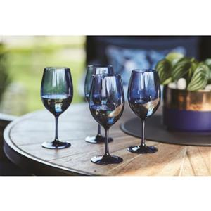 9-in Blue Shatterproof Wine Glass