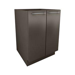Cutler 24-in W x 34.69-in H x 24-in D Prefinished Grey Slab Door Base Cabinet