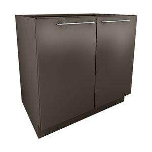 Cutler 36-in W x 34.69-in H x 24-in D Prefinished Grey Slab Door Base Cabinet