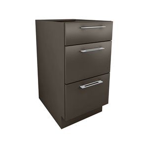Cutler 18-in W x 34.69-in H x 24-in D Prefinished Grey Slab Drawer Base Cabinet