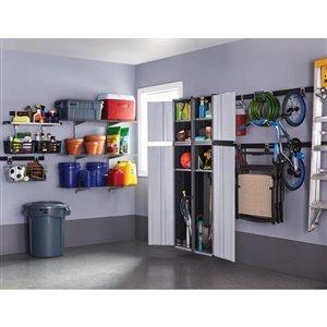 Rubbermaid Fasttrack Garage 1-Piece Gray/Black Steel Shelf