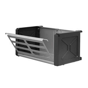 Rubbermaid Fasttrack Garage 1-Piece Gray/Black Steel Access Bin