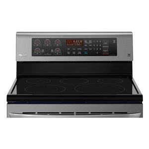 LG 30-in 6.3 cu ft Electric Range with Self-cleaning Convection Oven (Black Stainless Steel)