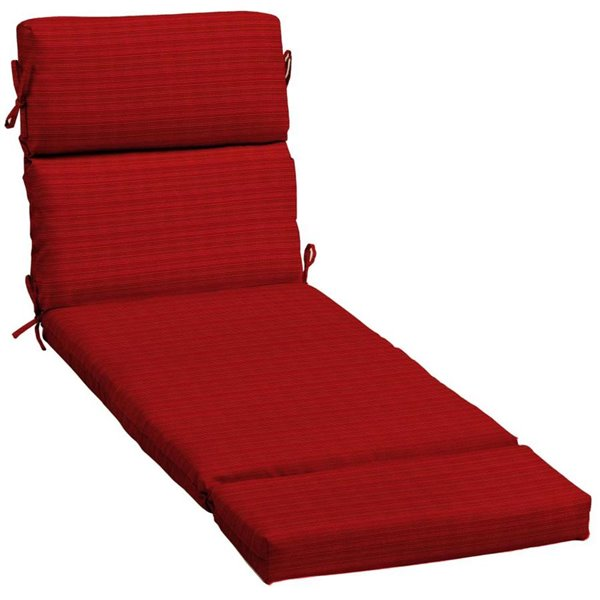 Allen Roth Red Ribbon Premium Olefin, Canada Patio Furniture Cushions