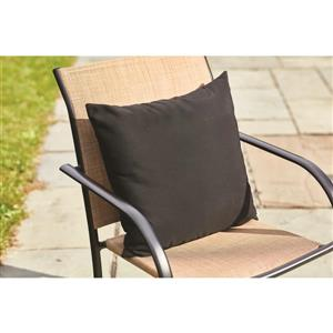 Sunbrella Black Canvas Cushion