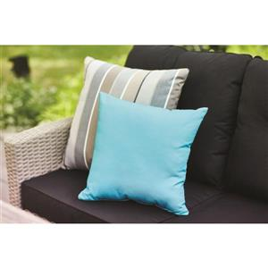 Sunbrella Milan Charcoal Stripe Cushion