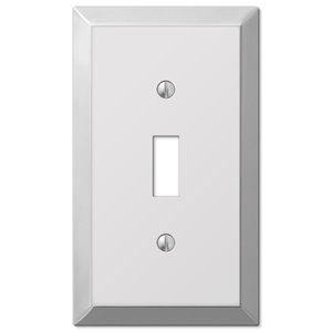 Amerelle Century 1-Gang Toggle Wall Plate (Polished Chrome)