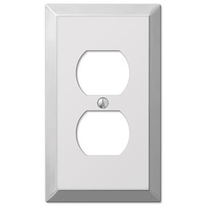 Amerelle Century 1-Gang Duplex Receptacle Wall Plate (Polished Chrome)