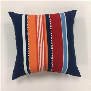 Garden Treasures 16-in Striped Outdoor Toss Pillow