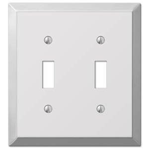 Amerelle Century 2-Gang Toggle Wall Plate (Polished Chrome)