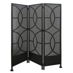 72-in x 59-in Black Steel Outdoor Privacy Screen