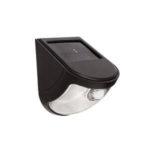 EZSolar 1-Pack 0-Watt Black Solar LED Post Light with Motion Sensor