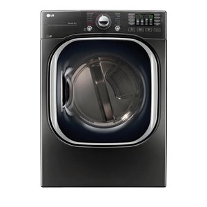 LG 7.4-cu ft Stackable Electric Steam Dryer (Black Stainless Steel) ENERGY STAR