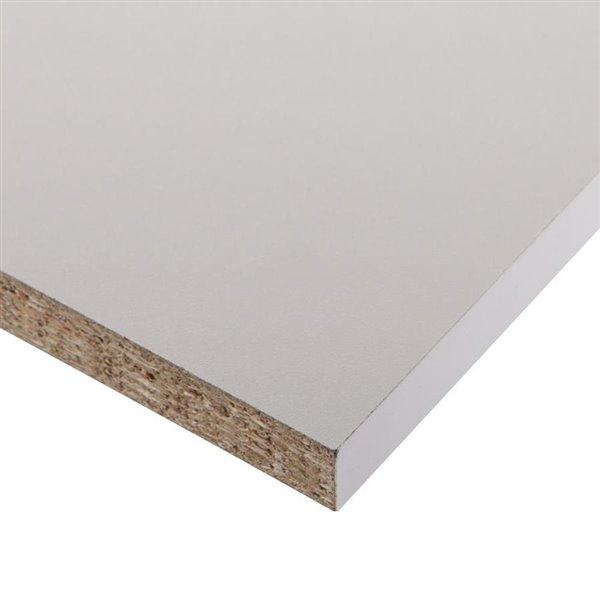 3 4 In X 16 In X 96 In White Premium Melamine Shelf Panel Lowe S Canada