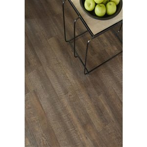 Style Selections Bayside Hickory 2.5-mm Peel-and-Stick Luxury Vinyl Tile Flooring  (6-in W x 36-in L)