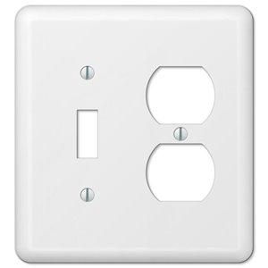 Amerelle Devon 2-Gang Toggle/Duplex Combination Wall Plate (White)