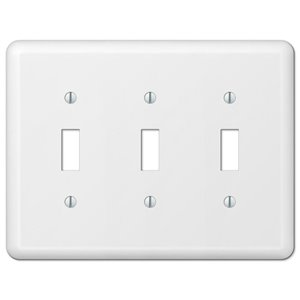Amerelle Devon 3-Gang Toggle Wall Plate (White)