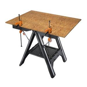 WORX Pegasus 31-in W x 32-in H 0-Drawer Plastic Work Bench