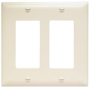 2-Gang Light Almond Double Midsize Wall Plate