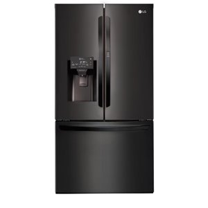 LG 18.4-cu ft French Door Refrigerator with Ice Maker with/and Door within Door (Matte Black Stainless Steel) ENERGY STAR