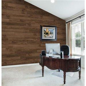 EZ WALL 43.3-in x 12.8-ft Embossed Appalachian Pine Pine Wood Wall Panel