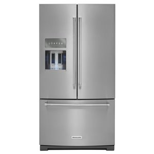 KitchenAid 36-in 26.8-cu ft French Door Refrigerator  with Ice Maker (Stainless Steel)
