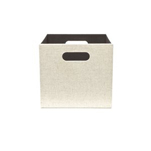 Large Cream Fabric Storage Bin