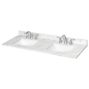 61-in x 22-in Ariston Ariston Natural Marble Undermount Bathroom Vanity Top