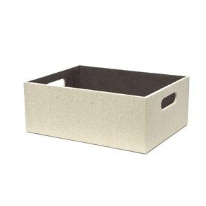 Medium Cream Fabric Storage Bin