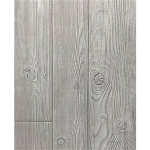 48-in x 8-ft Embossed Gray Homesteader Wall Panel