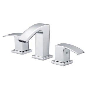 AquaSource AMARI Chrome 2-Handle Widespread WaterSense Bathroom Sink Faucet with Drain (Valve Included)