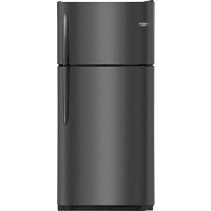 Frigidaire Gallery 18-cu ft Standard-Depth Top-Freezer Refrigerator (Fingerprint-Resistant Black Stainless Steel)