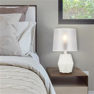 Catalina 8 In. White Table Lamp