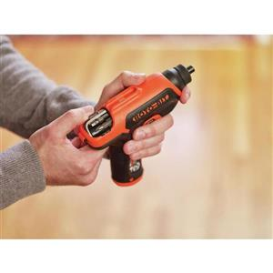 BLACK+DECKER ROTO-BIT 4-Volt Max 3/8-in Cordless Screwdriver (1-Battery Included and Charger Included)