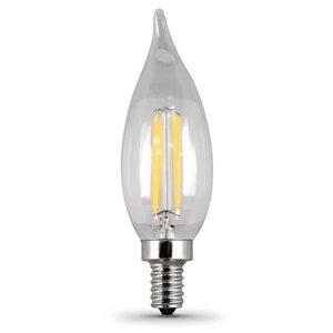 Feit Electric 40-Watt/300 Lumens Candelabra Base (E-12) Dimmable Candle LED Light Bulb (4-Pack)