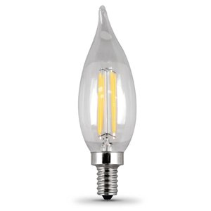 Feit Electric 60-Watt/500 Lumens Candelabra Base (E-12) Dimmable Candle LED Light Bulb (4-Pack)
