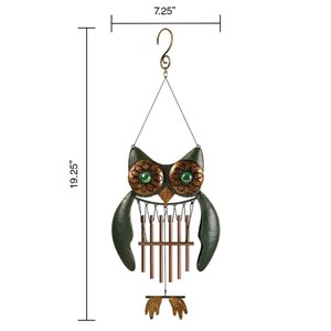 19.25-in Multi-Color Metal Wind Chime