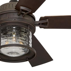 allen + roth Stonecroft 52-in Rust 5-Blade Multi-Position Ceiling Fan with Light Kit