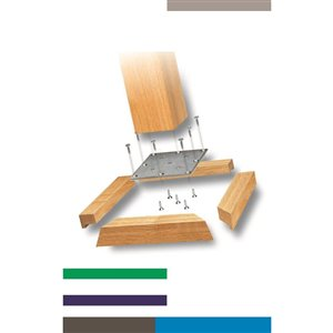 Mounting Plates Natural Oak Wood Newel Post Installation Kit