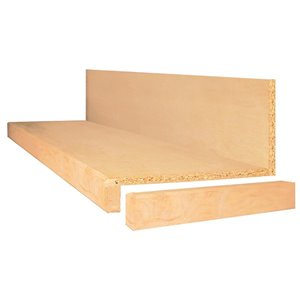 Square Maple Tread and Riser Kit Natural Maple Prefinished Maple Wood Stair Tread and Riser Kit